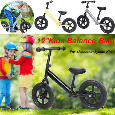 "12"" Kids Classic Balance Bike No Pedal Scooter Training Bicycle 1.5-6 Year Child"