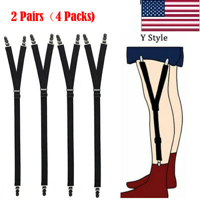 Lot 4 Luxury Military Y Style Shirt Holders Uniform Shirt Stays Keepers Garters