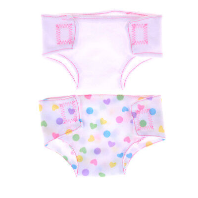 2Pcs Doll Diapers Wear fit 43cm Baby Born Zapf Dolls Accessories FT