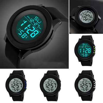 111b54dd0 Men's Digital Sports Watch LED Screen Large Face Military Waterproof Watches  HOT