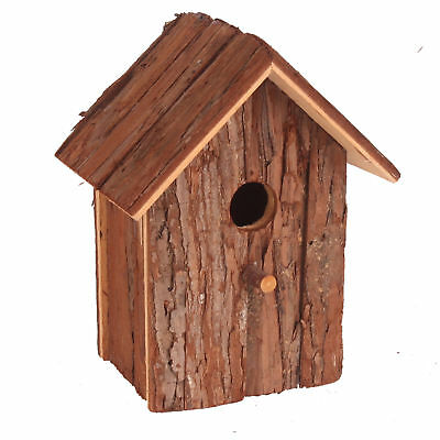 Pet Ting Natural Living Garden Nest Box With Bark Surface Finch Canary Wood