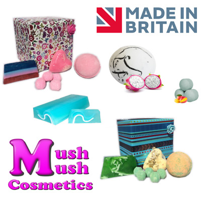 Bath Bomb Gift Set - Luxury Wrapped Pamper Handmade Gifts - Mush Mush Cosmetics