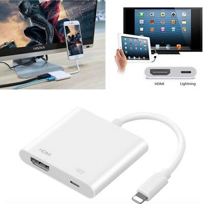 Lightning to HDMI AV Adapter Digital TV Cable Converter Compact For iPhone iPad