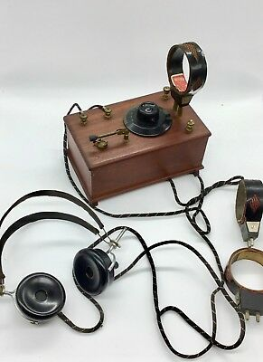 Ancien Poste A Galene,tsf,transmission 1920 Casque,antenne.