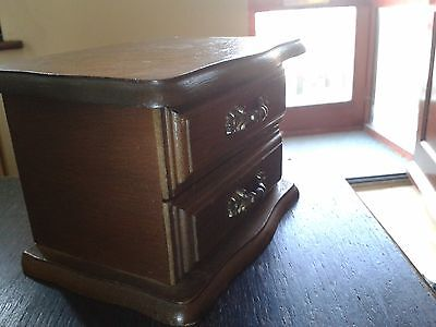 Antique Jewel case,box,solid wood,clean inside, rare