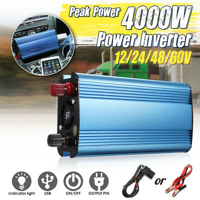 Electronic Accessories 4000w Peak Modified Sine Wave Power Inverter Dc 12v To Ac 220v Car Caravannc Special Buy