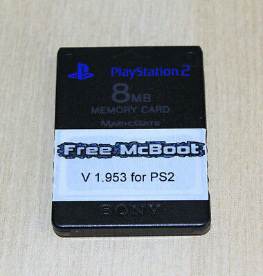 Free MCBoot 1.953 FMCB on Official PS2 8mb Sony memory  Playstation 2 ESR OPL