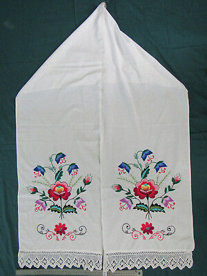 Vintage Embroidered Ukrainian folk towel rushnik handmade №332