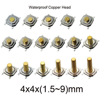 Button Swith 4.5x4.5x3.5mm to 4.5x4.5x12mm PCB Mini Small Push Multi-size