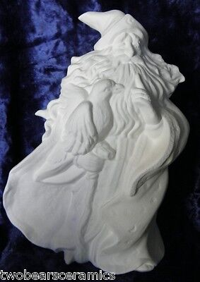 Ceramic Bisque Ready to Paint Raven  Wizard