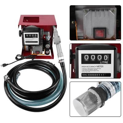230V Wall Mounted Diesel Transfer Fuel Pump Kit With Automatic Nozzle UK
