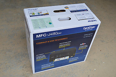 Brand New Brother MFC-J480DW Wireless Auto Duplex Inkjet Printer Copier Fax $129