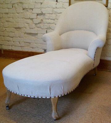 Vintage French Louis Philippe Style Chaise Longue inc Reupholstery (exc. fabric)