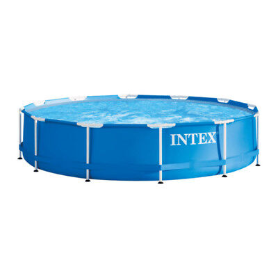 Intex Familienpool  Swimmingpool Schwimmbecken  Metallrahmen  366×84 cm Komplett