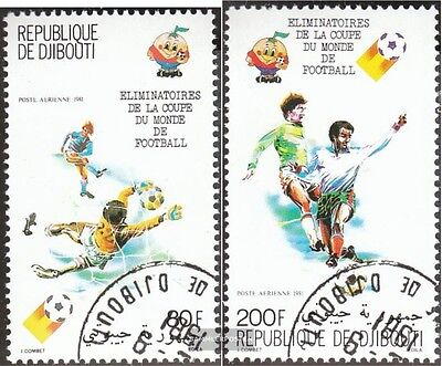 Djibouti 290-291 fine used / cancelled 1981 skill games Football-WM