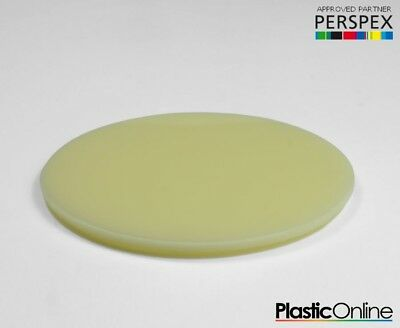 Laser Cut Plastic Circles Acrylic Discs Perspex 3mm, 5mm Ivory Gloss