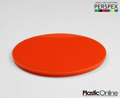 Laser Cut Plastic Circles Acrylic Discs Perspex 3mm, 5mm Orange Gloss