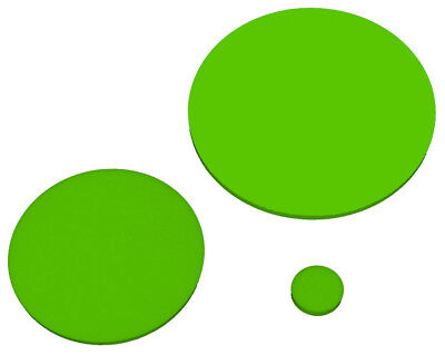 Lime Green 6T81 Laser Cut Plastic Circles 3Mm Thick Acrylic Discs Perspex Light