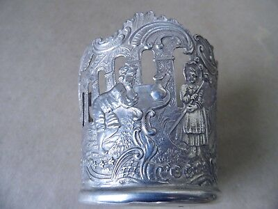 Stunning Victorian French Sterling Silver Bottle Holder London Imported 1897