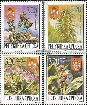 Serbian Republic bos.-h 56-59 mint never hinged mnh 1997 Locals Flora