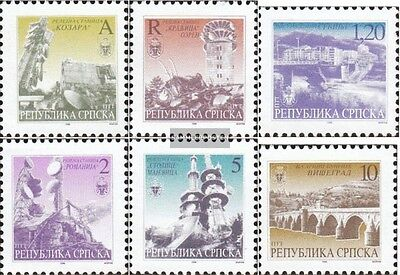 Serbian Republic bos.-h 48-53 mint never hinged mnh 1996 clear brands