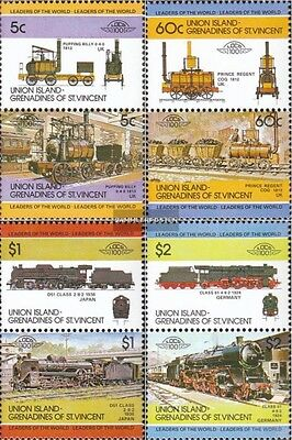 St. Vincent-Union Iceland 13-20 Couples mint never hinged mnh 1984 LocoThematics