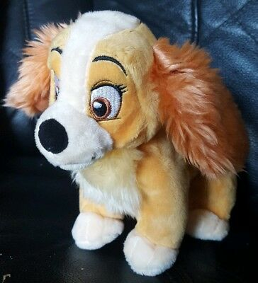 Disney Store Lady And The Tramp Plush Toy *VG Condition** 15 cm Tall, No Collar