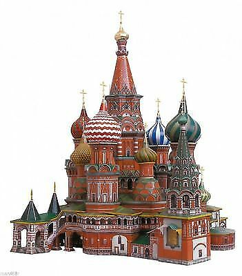 US STOCK Clever Paper St Basil's Cathedral 3D Puzzle Cardboard  Set UMBUM DIY