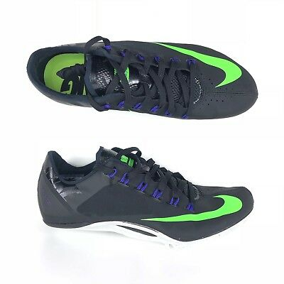 finest selection 43c23 100a4 Nike Zoom Superfly R4 Track Spikes Black Green Men Size 10.5 12 13