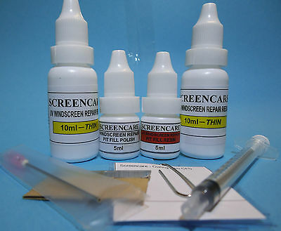 Windscreen Repair 20ml Resin Pack Kit