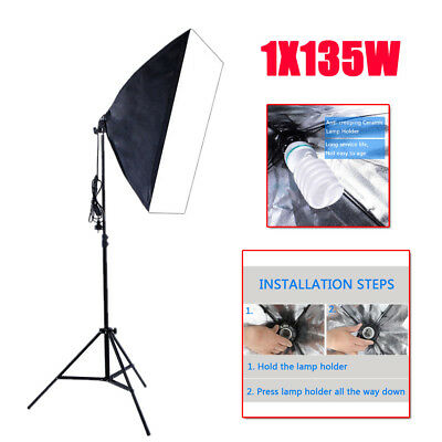 1X135W Photography Studio Video Continuous Lighting Soft Box Light Stand Kit Set