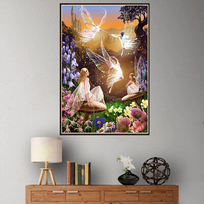 Full Drill 5D DIY Diamond Painting butterfly fairy Cross Stitch kit Home DecorME