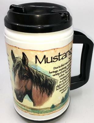 Vintage Whirley MUSTANG HORSE USA Thermal Insulated Hot/Cold Mug/Cup travel