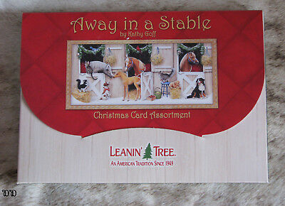 LEANIN TREE Away In A Stable Holiday Christmas Cards ~ 2 each of 10 designs ~
