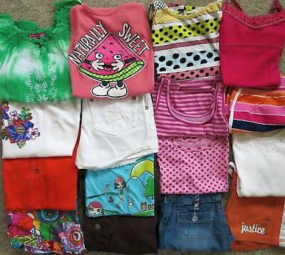Girl's Sz 10 JUSTICE CHILDREN'S PLACE T-Shirt Shorts Tank Top Summer Outfit LOT
