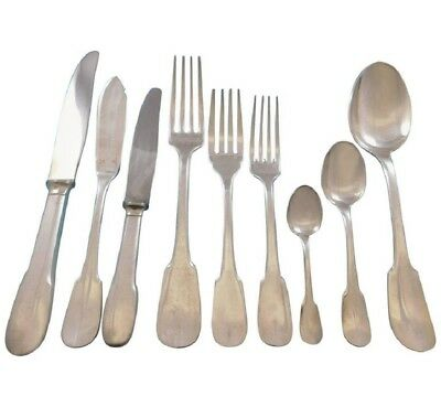 Cluny by Christofle France Silverplate Flatware Set for 10 Service 97 pcs Dinner