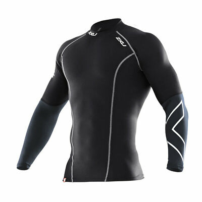 2XU Mens Elite Long Sleeve Compression Top New XL Large Black Exercise Running