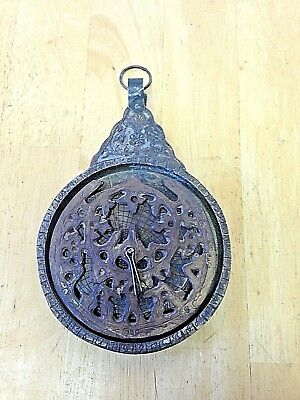 Astrolabe Vintage Brass Large Repro  Renfaire Pirate Sca  Cosplay Larp Steampunk