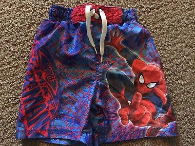 Marvel Ultimate Spider-Man Toddler Boys Swimming Trunks Size 3T NWT