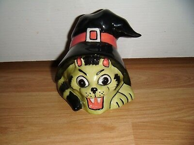 Lorna Bailey Halloween Cat ~  Cat In Witch's Hat ~ Excellent Condition