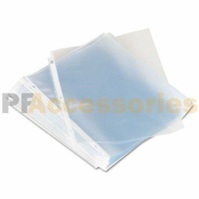 Pack of 20 Economy Weight Clear Poly Sheet Page Protectors Non-Stick 8.5 x 11