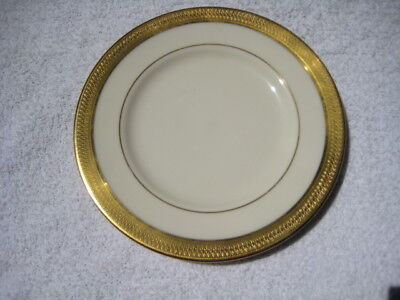"Lowell Pattern by Lenox China 6-3/8"" Bread & Butter Plate gold back stamp"