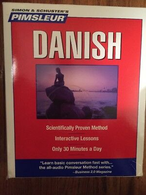 New 5 CD Pimsleur Simon & Schuster's Learn to Speak  DANISH Language 10 Lessons