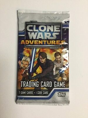 Star Wars Clone Wars Adventures Booster Pack NEW! TCG CCG Topps