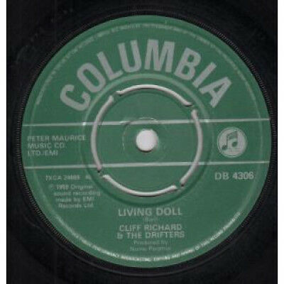 """CLIFF RICHARD AND THE DRIFTERS Living Doll 7"""" VINYL UK Columbia Reissue"""