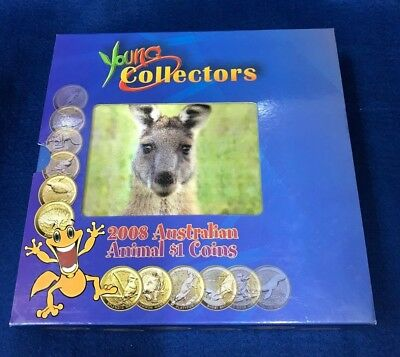 2008 Young Collectors Australian Animals $1.00 Coin Set  12 Coins