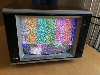 "VINTAGE 1985 RCA XL-100 13"" Color TV Television Gaming EKR336W EUC Works! Retro"