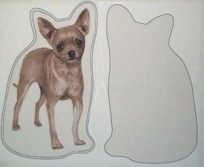 Chihuahua Dog Puppy Pillow Top Fabric Set of 2 Panels Pieces New