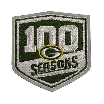 2018 PACKERS 100 Seasons Commemorative Iron-on Football Jersey PATCH