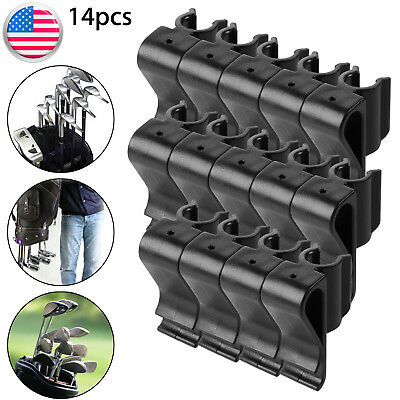 14pcs Golf Bag Clip On Putter Clamp Holder Putting Organizer Club Ball Marker Us